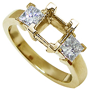 18K Yellow Gold 0.50cttw Diamond Setting