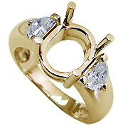18K Yellow Gold 1.00cttw Diamond Setting