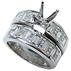 18K White Gold 1.75cttw Diamond Setting