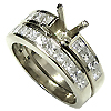 18K White Gold 1.70cttw Diamond Setting