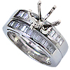 18K White Gold 0.70cttw Diamond Setting
