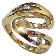 18K Yellow Gold 0.12cttw Diamond Setting
