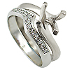 18K White Gold 0.14cttw Diamond Setting