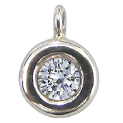 14K White Gold 0.25cttw Diamond Pendant