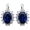 14K White Gold 1.94cttw Sapphire & Diamond Earrings