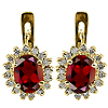 14K Yellow Gold 2.32cttw Ruby & Diamond Earrings