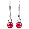 18K White Gold 0.60cttw Ruby Earrings