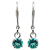 18K White Gold 0.60cttw Emerald Earrings