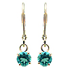 18K Yellow Gold 0.60cttw Emerald Earrings