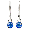 18K White Gold 0.60cttw Sapphire Earrings