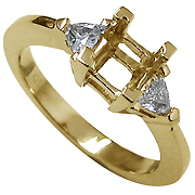 18K Yellow Gold 0.25cttw Diamond Setting