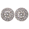 14K White Gold 0.36cttw Diamond Earrings