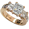 18K Rose Gold 3.00cttw Diamond Ring