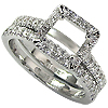 18K White Gold 0.50cttw Diamond Setting