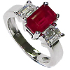 18K White Gold 2.75cttw Ruby & Diamond Ring