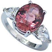 Platinum 5.38cttw Tourmaline & Diamond Ring