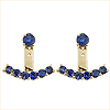 18K Yellow Gold 2.40cttw Blue Sapphire Floating Earrings