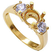 18K Yellow Gold 1/2cttw Diamond Setting