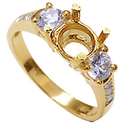 18K Yellow Gold 0.60cttw Diamond Setting