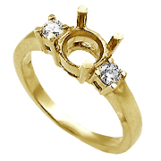 18K Yellow Gold 1/5cttw Diamond Setting