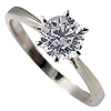 18K White Gold 0.70ct Diamond Ring