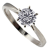 18K White Gold 0.50ct Diamond Ring
