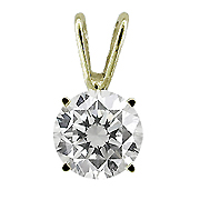 14K Yellow Gold 0.50 ct. Diamond Pendant