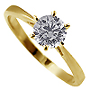 18K Yellow Gold 0.50ct Diamond Ring