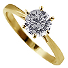 18K Yellow Gold 0.70ct Diamond Ring