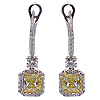 18K White Gold 4.01cttw Diamond Earrings