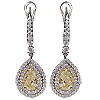 18K White Gold 5.02cttw Diamond Earrings