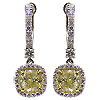 18K White Gold 2.75cttw Diamond Earrings