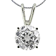 "14K White Gold 0.25 ct. Diamond Pendant w/20"" Chain"